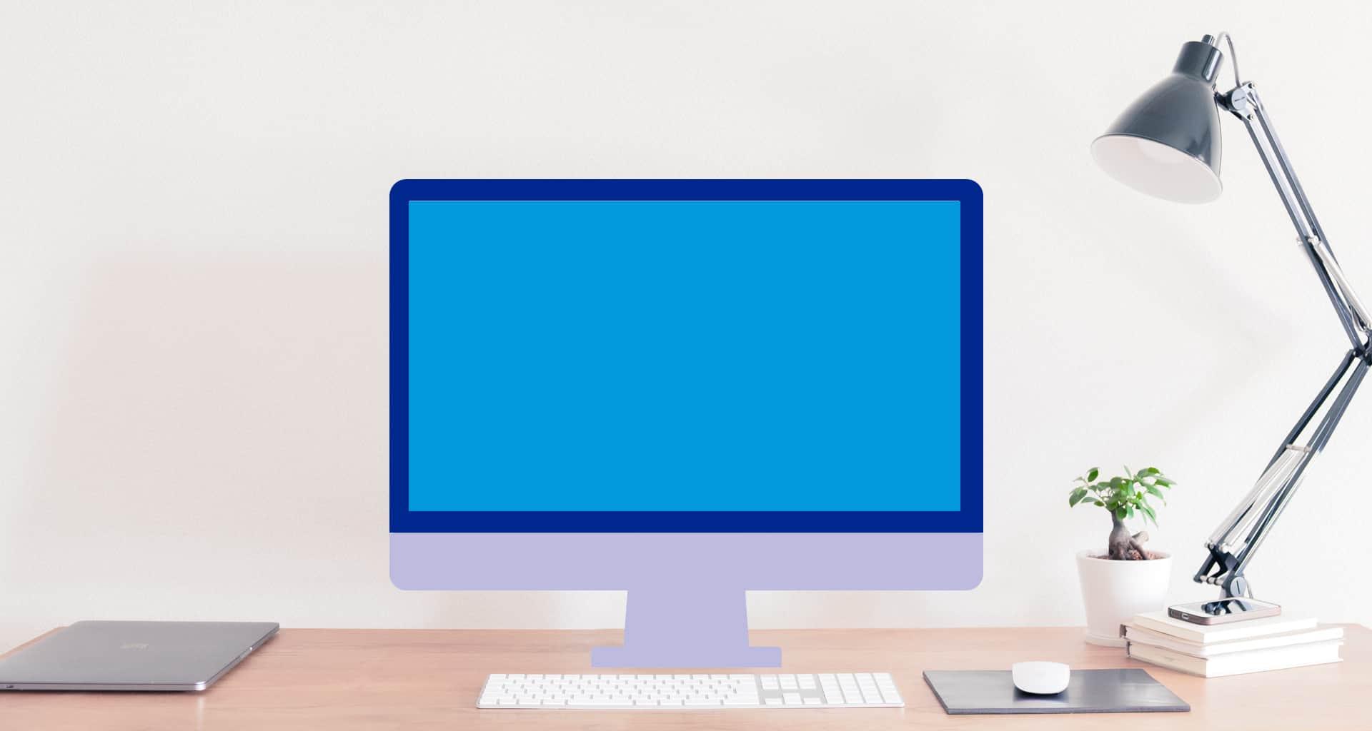 Animert Mac på ekte skrivebord